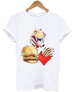 T Rex fries burger T Shirt