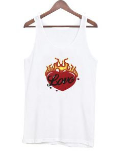 Heart in Flames Tank Top