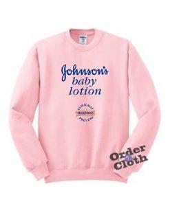 Johnson's baby lotion mildness Sweatshirt