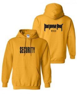 Justin Bieber Purpose Tour Security Hoodie