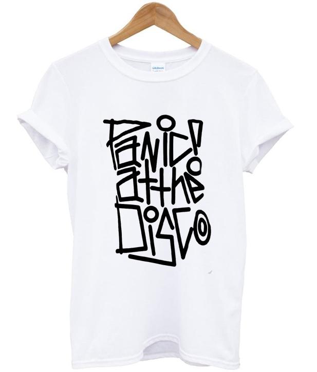 4b244a64 Panic at the disco t-shirt - orderacloth