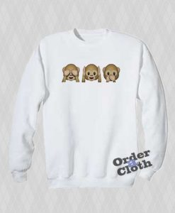 See Hear Speak No Evil Emoji Sweatshirt