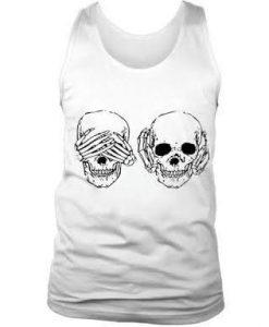 Skull See Hear No Evil Tank Top