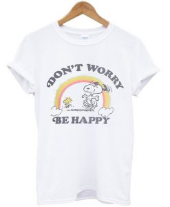 Snoopy dont worry be happy t-shirt