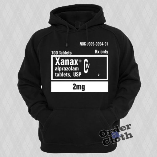 Xanax 2mg Rx Only Hoodie