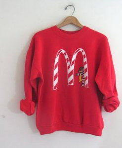 Vintage Mc Donald's Christmas Sweatshirt