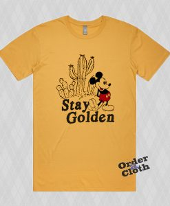 Stay Golden Mickey Mouse Casual T-shirt
