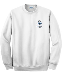 Bee Happy Pocket Print Sweatshirt