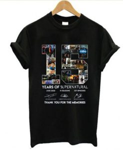 15 Year Of Supernatural T shirt