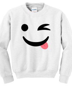 Silly Wink Emoji Sweatshirt