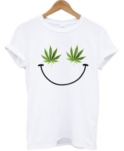 Weed Smiley T-shirt