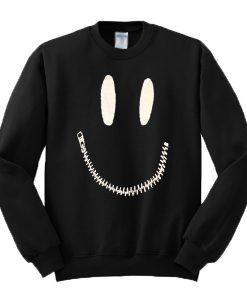 Zipper Mouth Sweatshirt