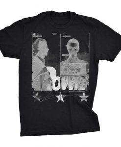 David Bowie Star 1975 Mugshot T-Shirt