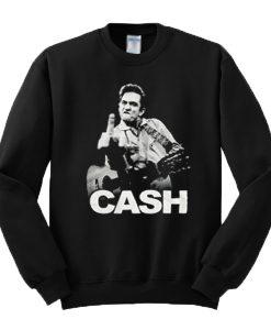 Johnny Cash Middle Finger Sweatshirt