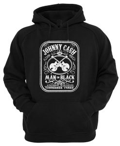Johnny Cash The Man In Black Featuring The Fabulous Tennessee Three Hoodie
