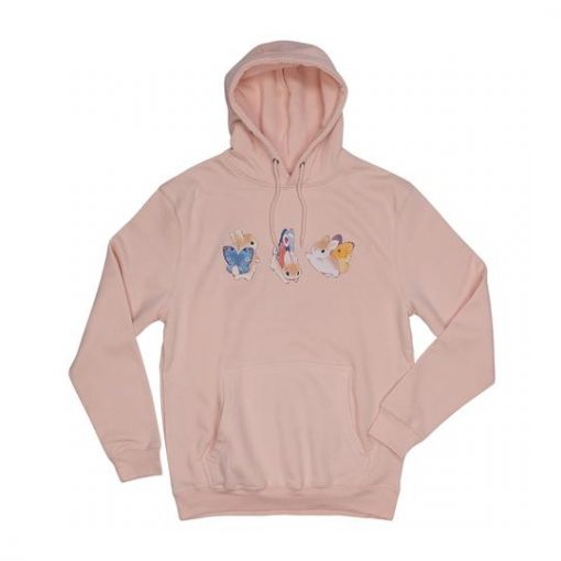 Bunnerfly Lines Bunny Butterfly Hoodie