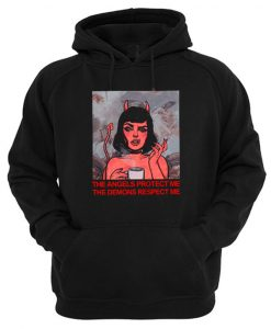 The Angels Protect Me The Demons Respect Me Graphic Hoodie