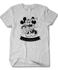 Mickey & Minnie Mouse Just Married T-Shirt