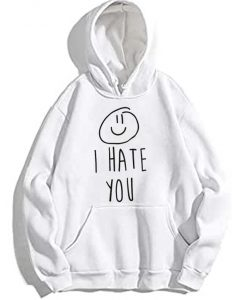 I Hate You Smiley Hoodie