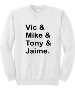 Vic Mike Tony Jaime Pierce The Veil Sweatshirt