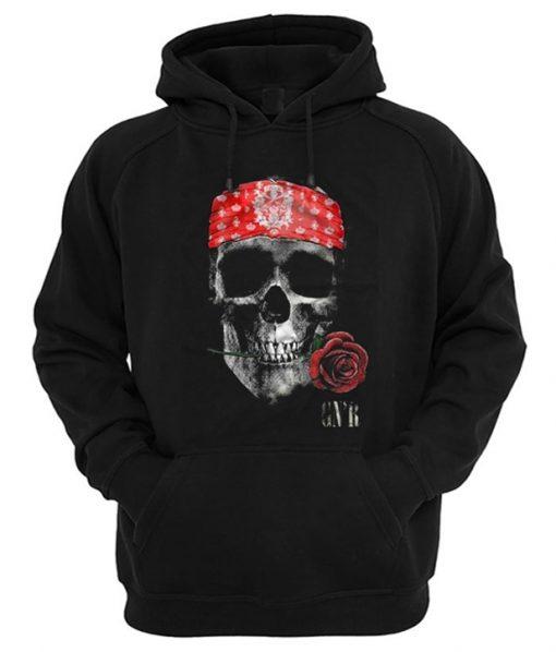 GNR Skull Rose Hoodie